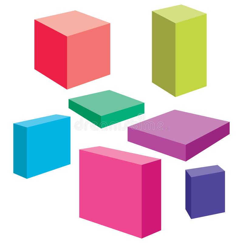 Vector Boxes Royalty Free Stock Images