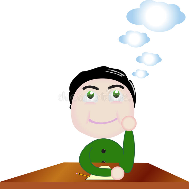 Download Vector Boy Day Dreaming At School Stock Vector - Illustration: 34630510