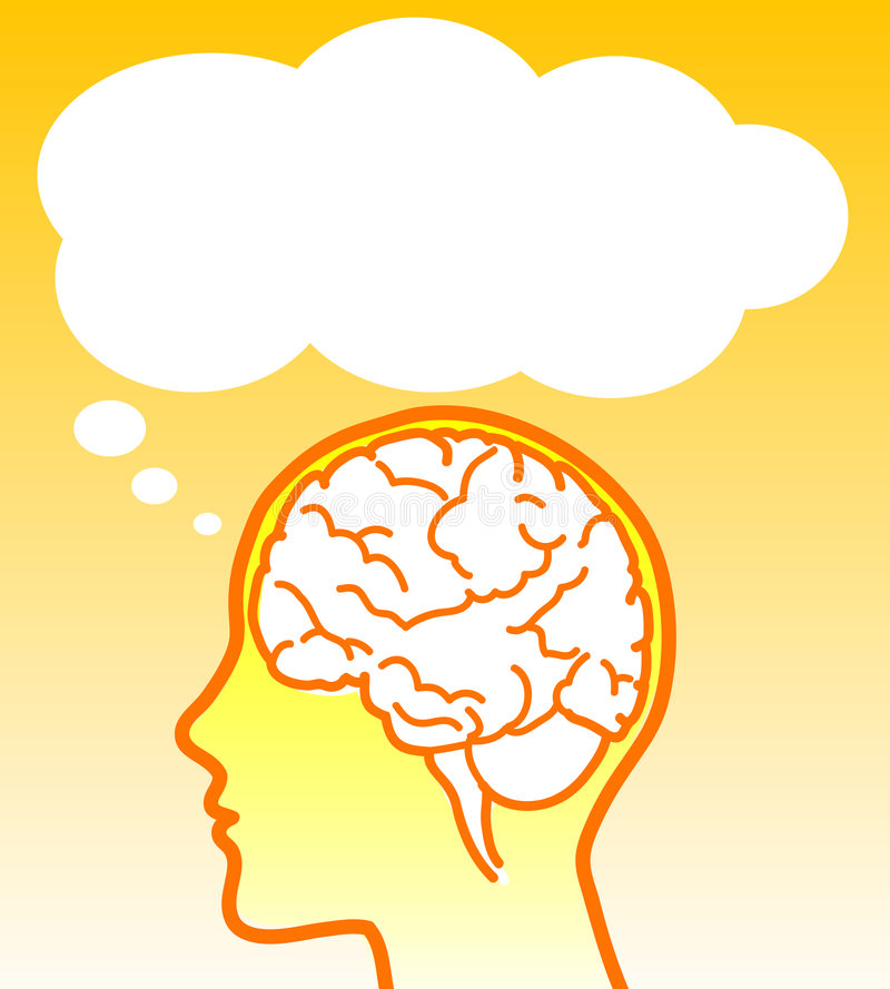 Download Vector brain with balloon stock vector. Image of thought - 6422342