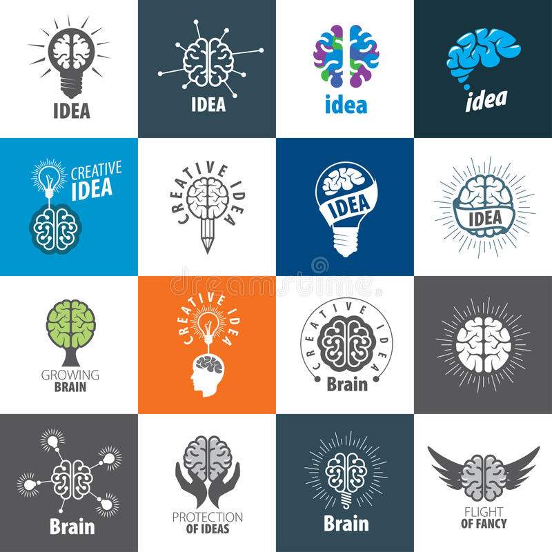 Vector Brain Logo libre illustration