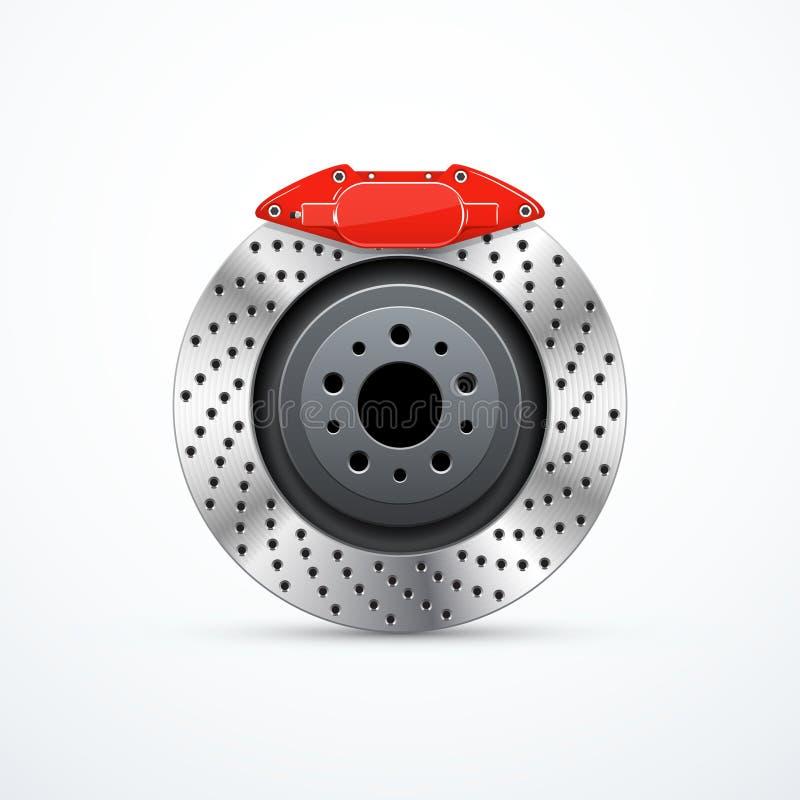 Vector brake disc with caliper. Car brakes. Brake disc with caliper. Car brakes. Vector illustration eps 10 royalty free illustration
