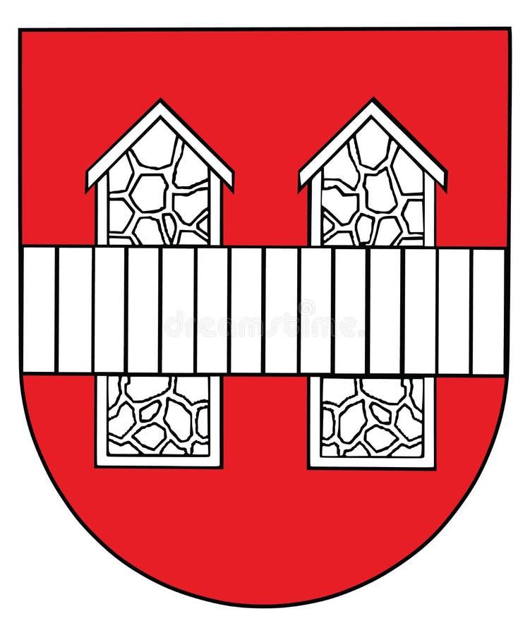 Vector a brasão da cidade de Innsbruck, Áustria, selo, emblema ilustração stock