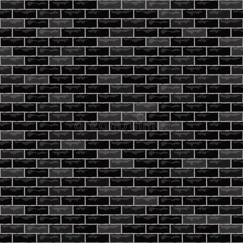Vector brick wall black stock illustration