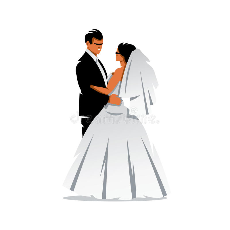 vector bride and groom cartoon illustration stock vector rh dreamstime com bride and groom vector illustration bride and groom vector free download