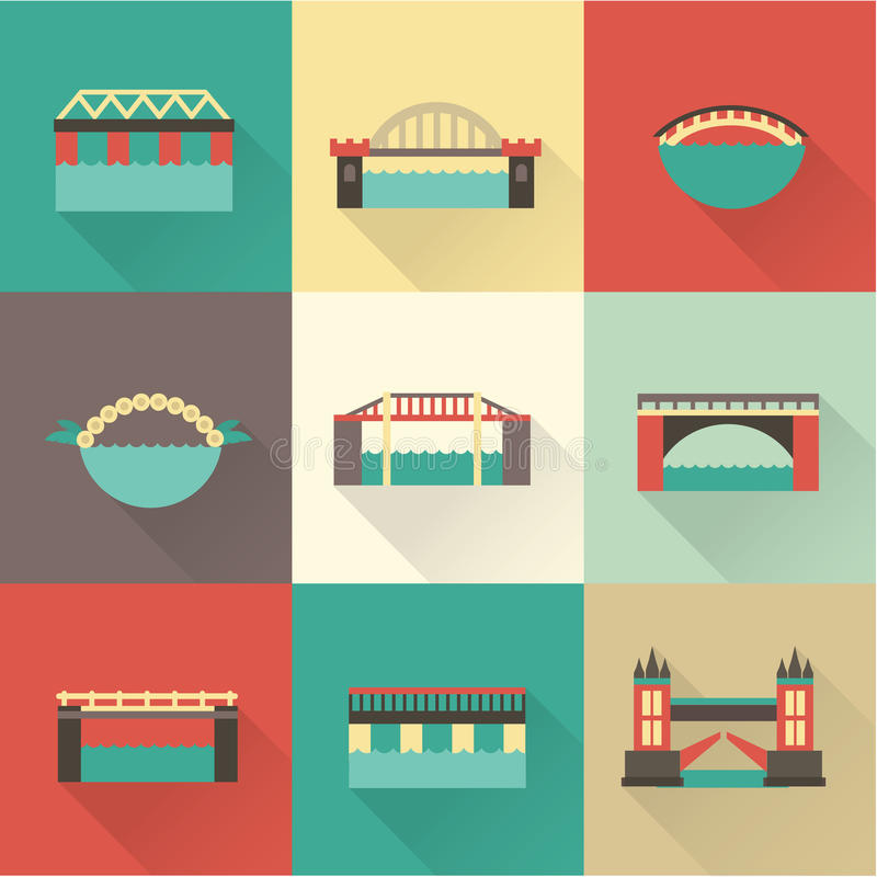Download Vector bridge icon stock vector. Image of outdoors, object - 35058277