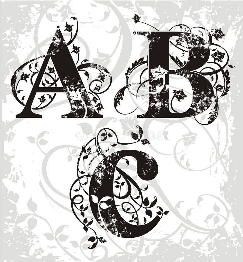 Vector brieven royalty-vrije illustratie