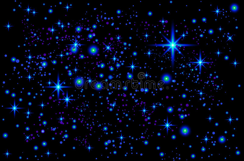 Vector bright colorful cosmos illustration. Abstract cosmic background with stars. vector illustration