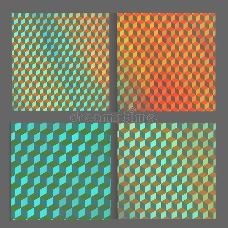Vector bright cube pattern background for your vector illustration