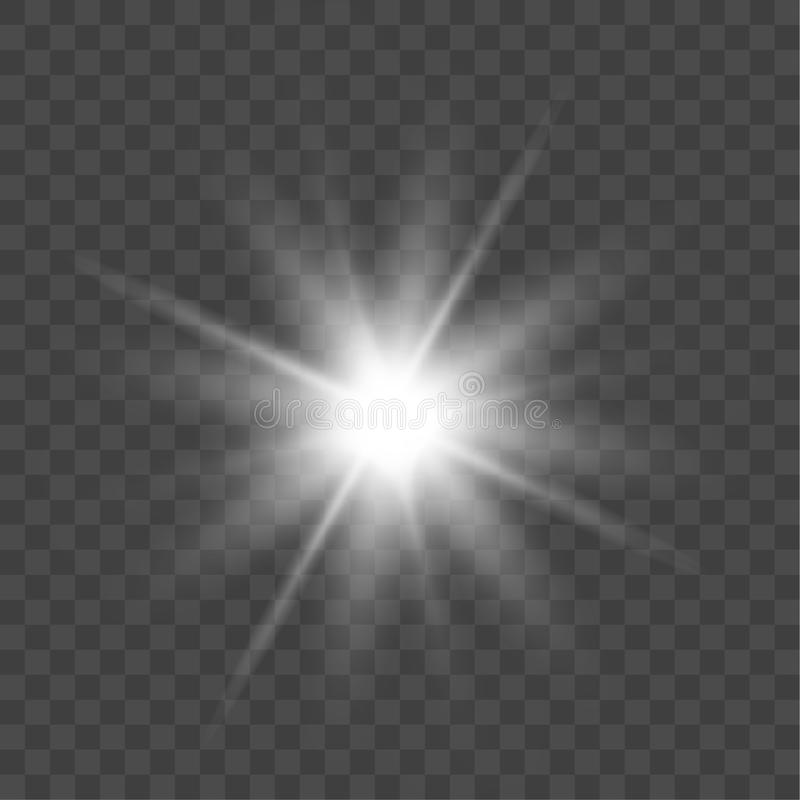 Vector bright light effect isolated on transparent background.  vector illustration