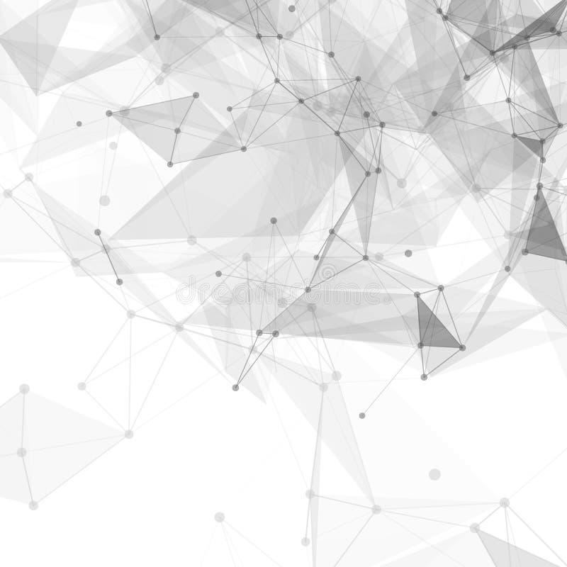 Vector brillante blanco polivinílico bajo abstracto de la tecnología ilustración del vector