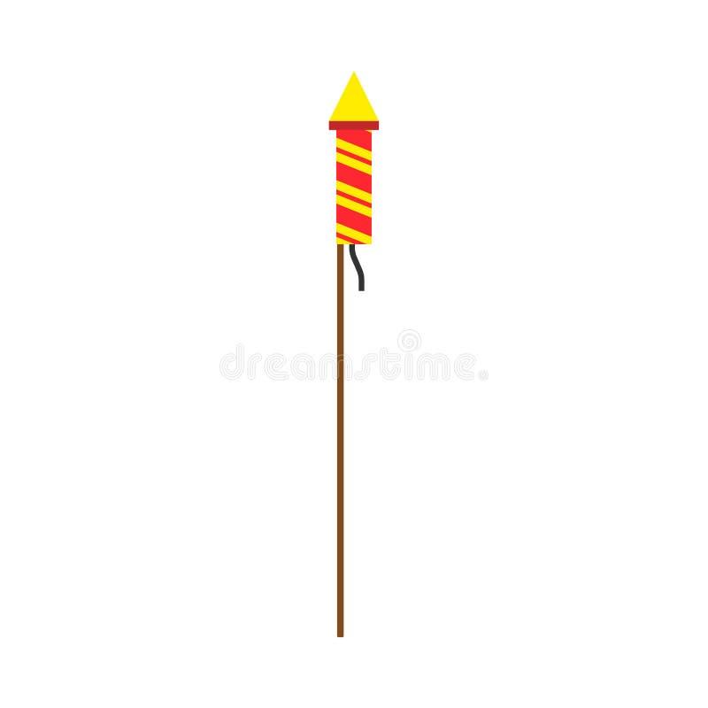 Vector brillante de la chispa de la decoración de los fuegos artificiales Regalo del fuego rojo de la invitación del petardo de l stock de ilustración