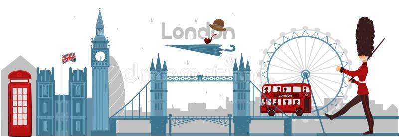 Vector british london symbols concept vector illustration
