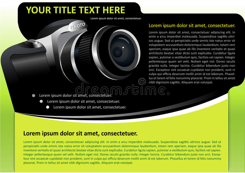 Vector Brochure Background With Camera Stock Image