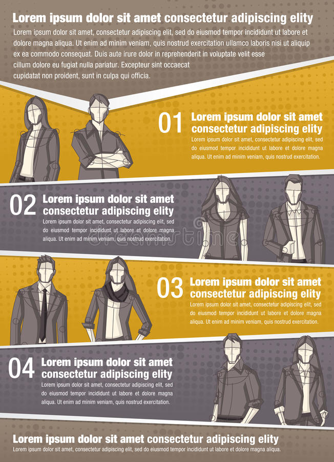 Vector brochure backgrounds with business people royalty free illustration