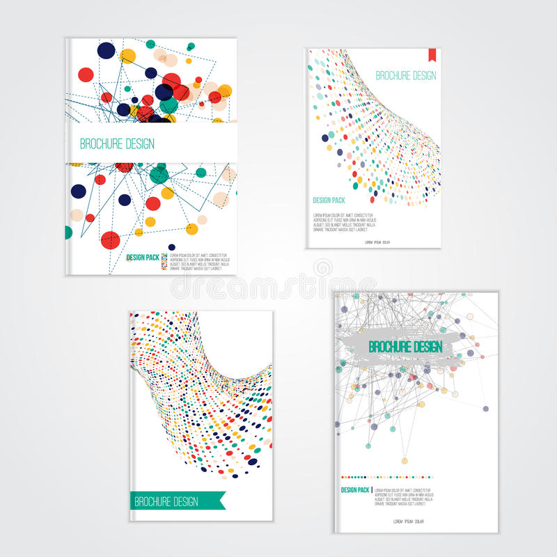 Vector brochure cover design templates with stock illustration