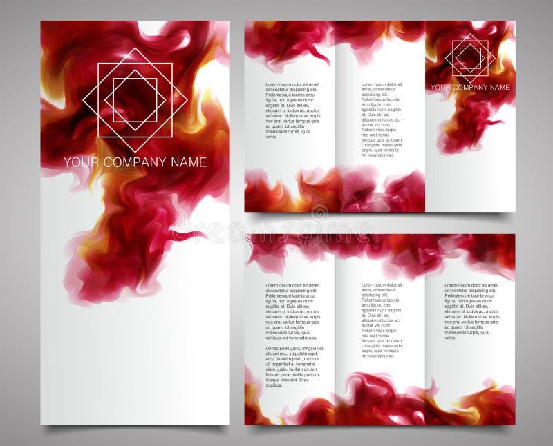 Vector Brochure Design Template. stock images