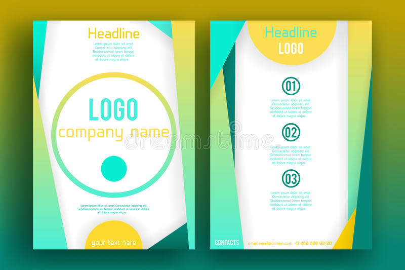 Vector Brochure Flyer design Layout template 006 stock illustration