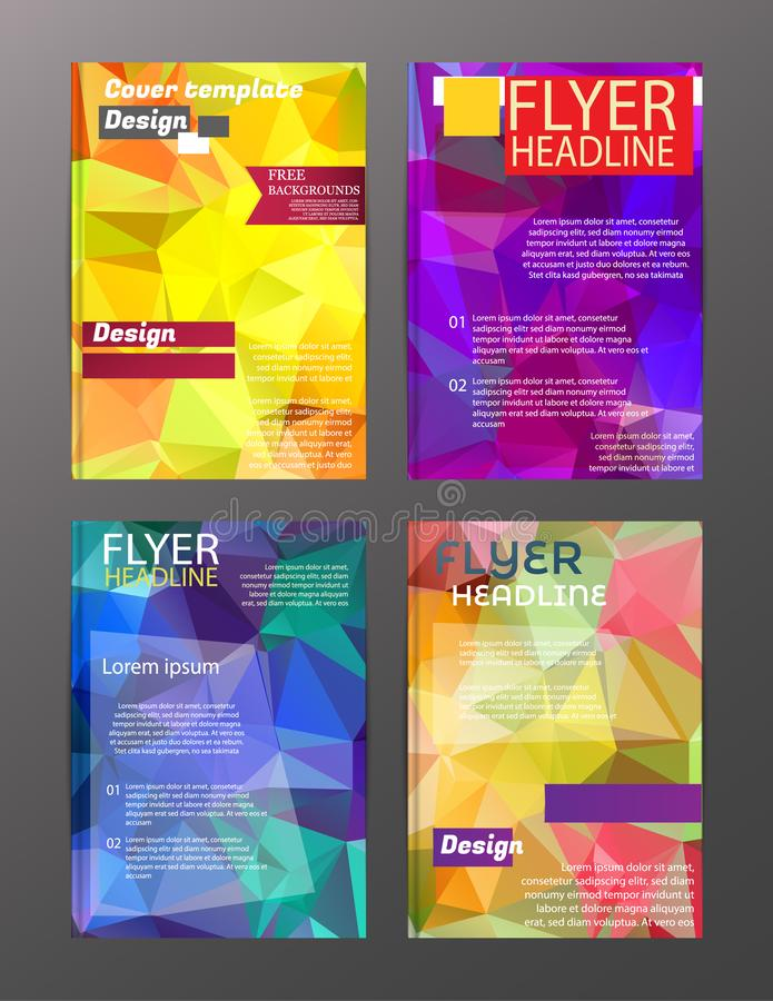 Vector Brochure Flyer Design Layout Templates. Abstract royalty free illustration