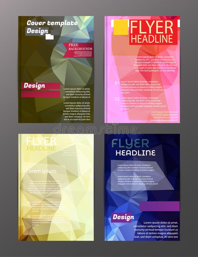 Vector Brochure Flyer Design Layout Templates. Abstract. Eps.10 royalty free illustration
