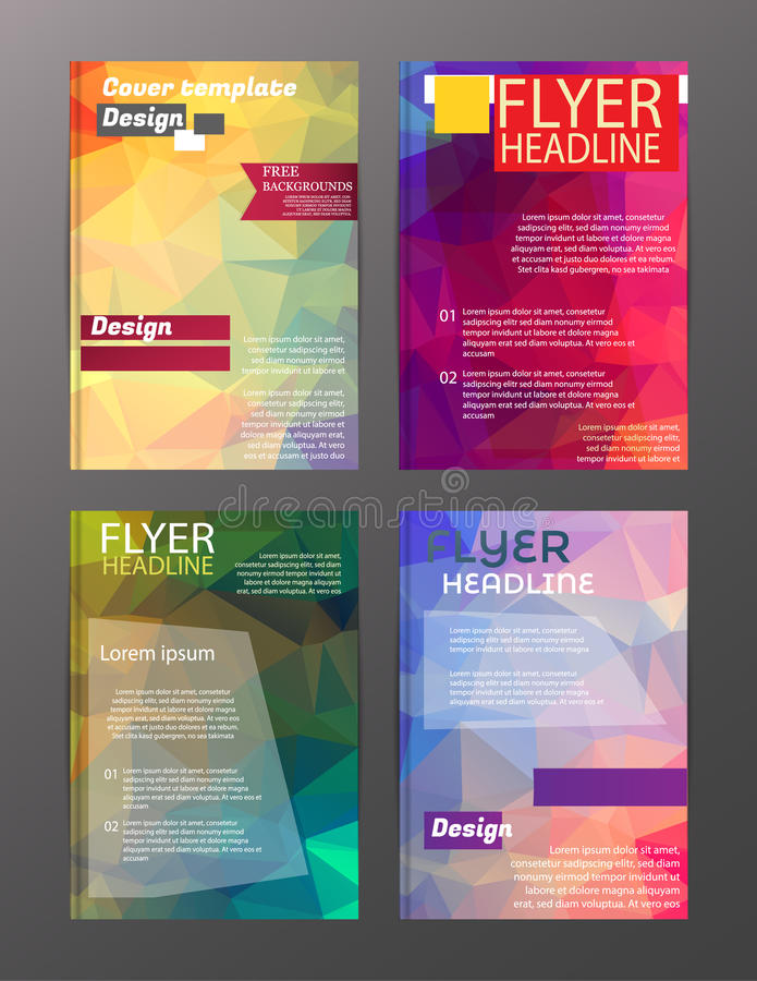Vector Brochure Flyer Design Layout Templates. Abstract stock illustration