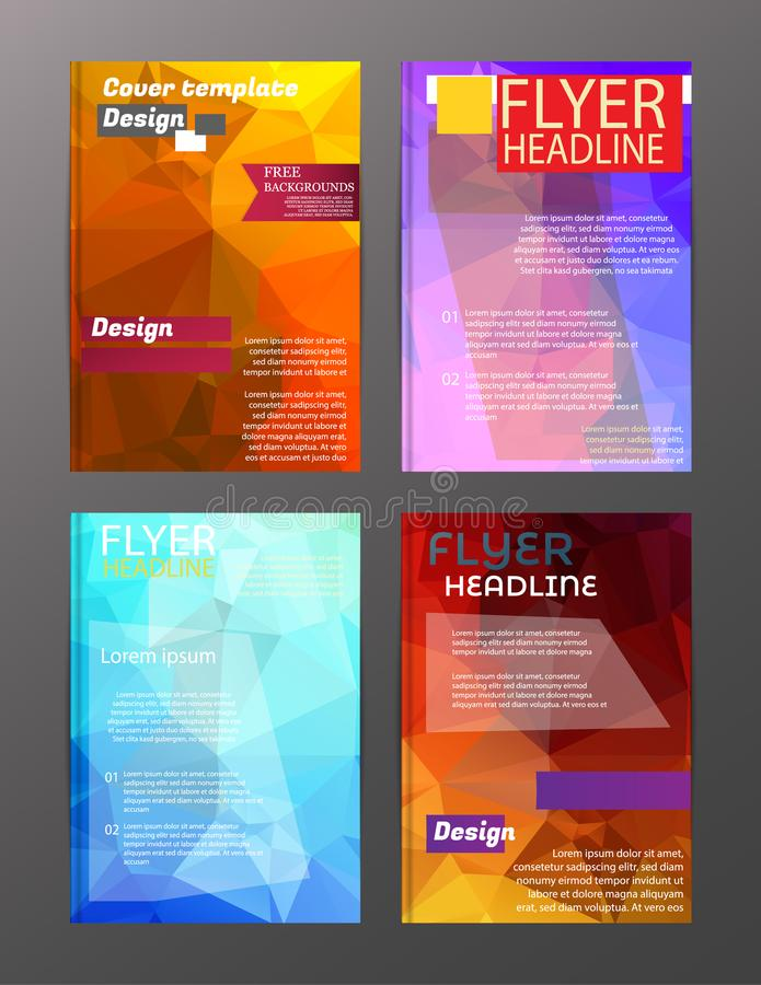 Vector Brochure Flyer Design Layout Templates. Abstract. Eps . 10 royalty free illustration