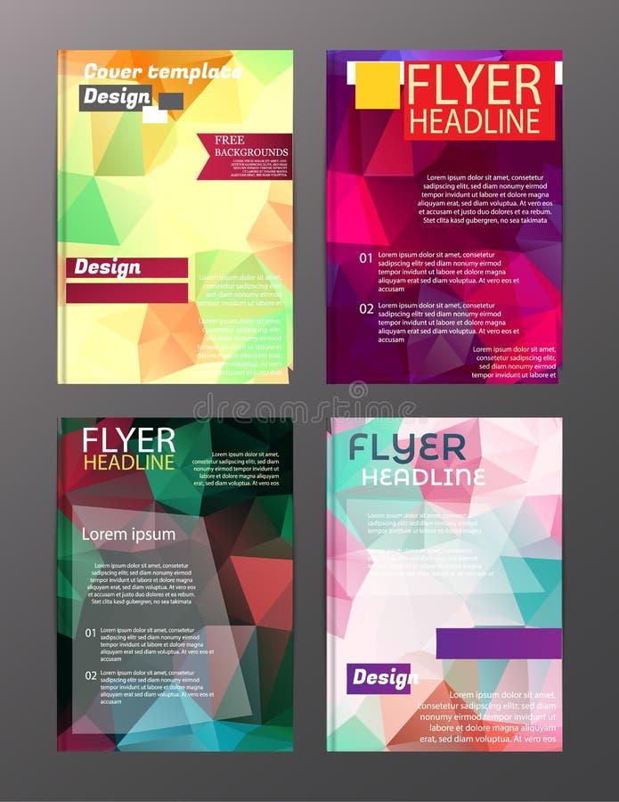 Vector Brochure Flyer Design Layout Templates. Abstract vector illustration