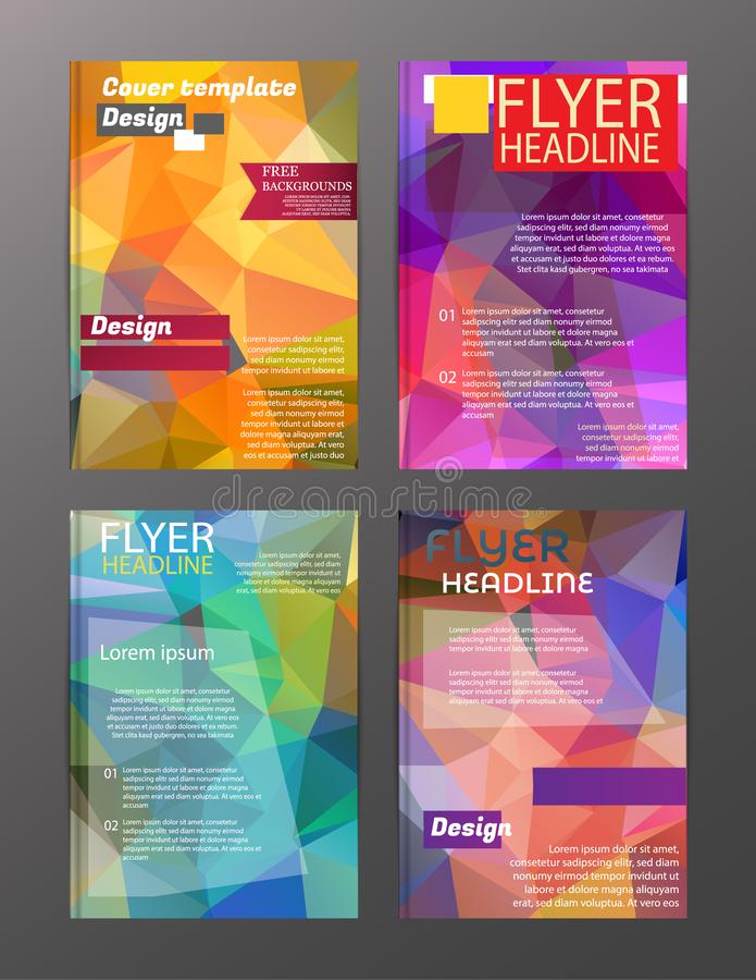 Vector Brochure Flyer Design Layout Templates. Abstract. Eps.10 stock illustration