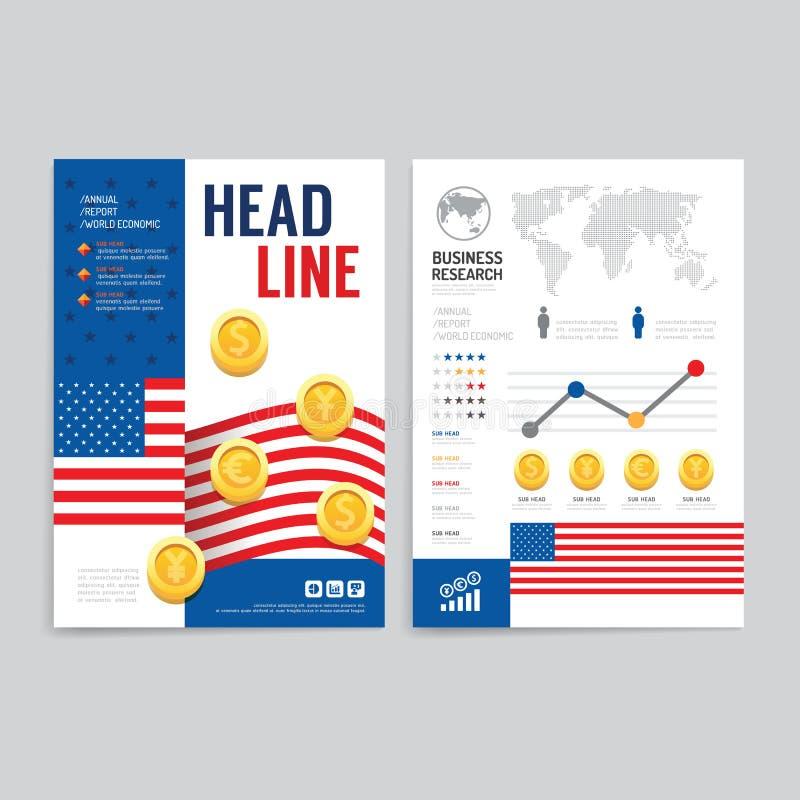Vector brochure flyer magazine cover booklet poster for Design economico