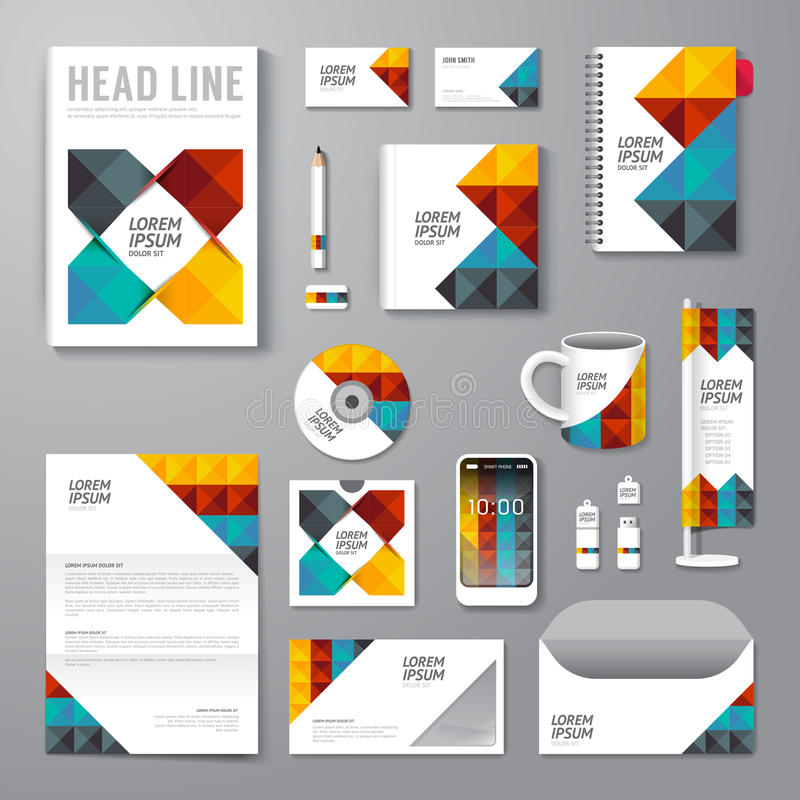 Vector brochure, flyer, magazine cover booklet poster design template. / layout business stationery annual report A4 size/ set of corporate identity template vector illustration