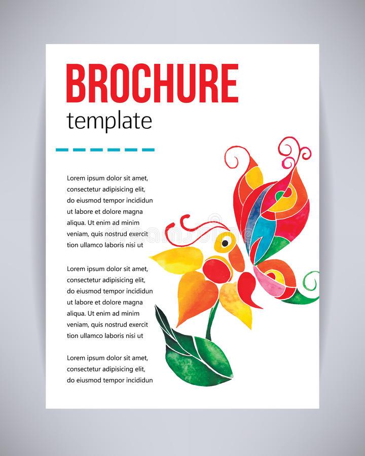 Vector Brochure And Flyer Poster Template With Abstract Beautiful