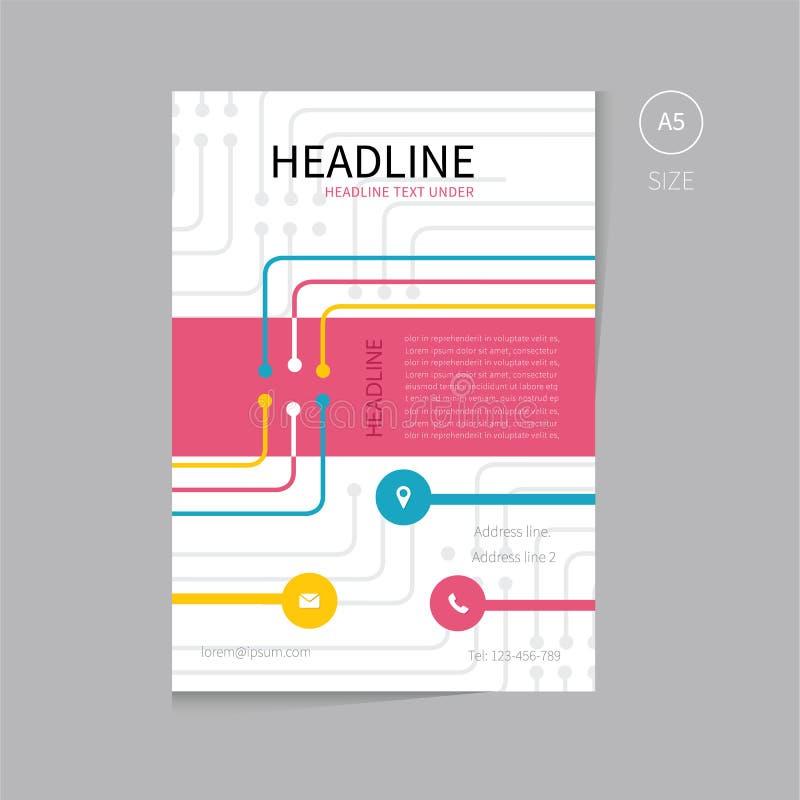 Vector Brochure Flyer Template Design A5 Size Stock Vector