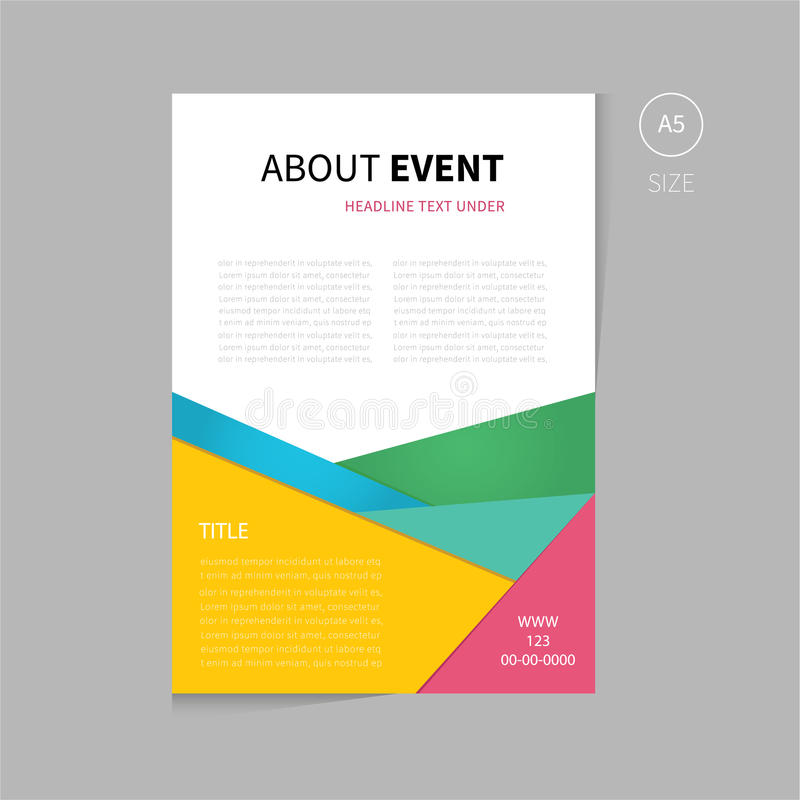 Vector Brochure Flyer Template Design A Size Stock Vector - Brochure flyer templates