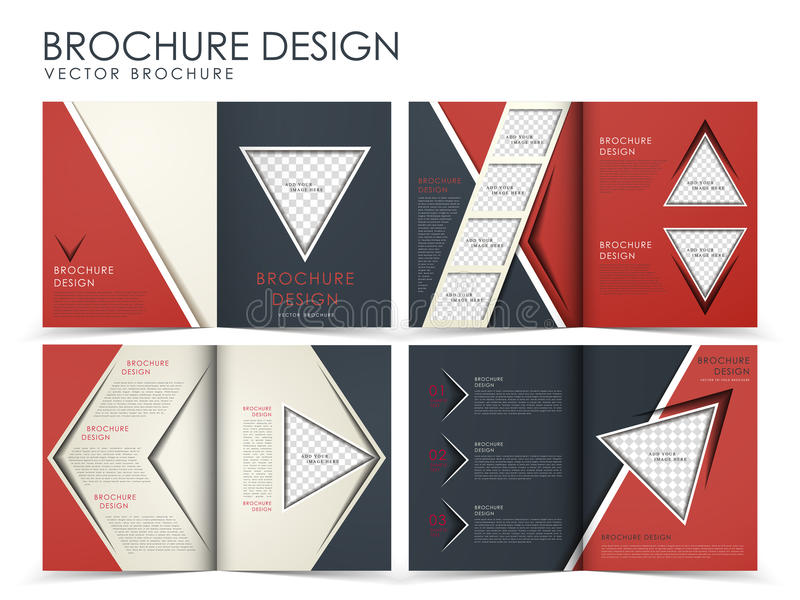 Vector brochure layout design template royalty free illustration