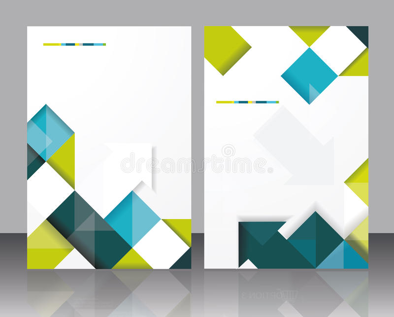 Vector Brochure Template Design With Cubes And Arrows Elements - Free downloadable brochure templates