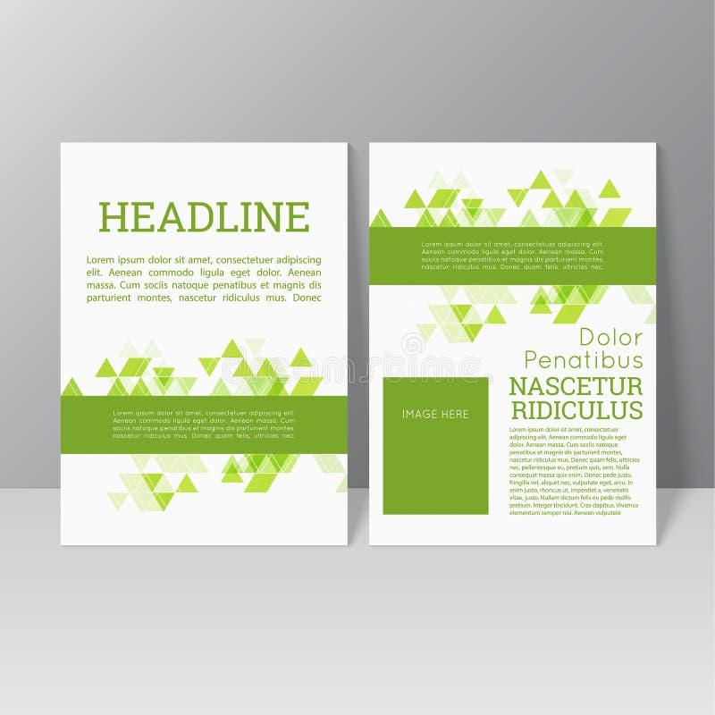 Vector brochure template design royalty free illustration