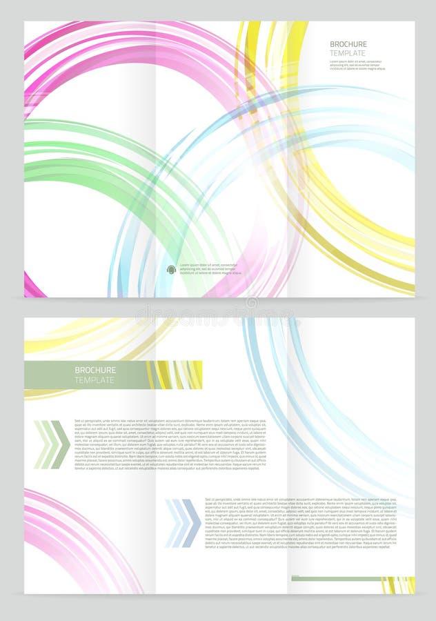 Vector Brochure Template royalty free illustration