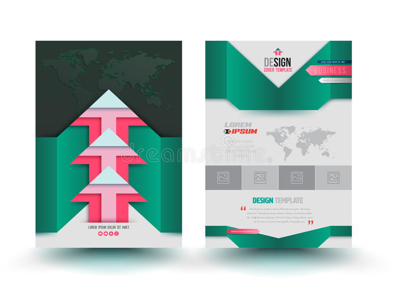 Vector brochure template modern design arrows. stock illustration