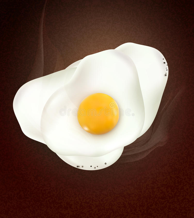 Vector a broken egg on brown background royalty free illustration