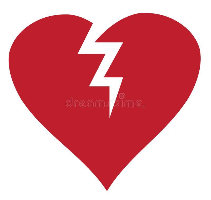 Vector Broken Heart Isolated On White Background Stock Vector
