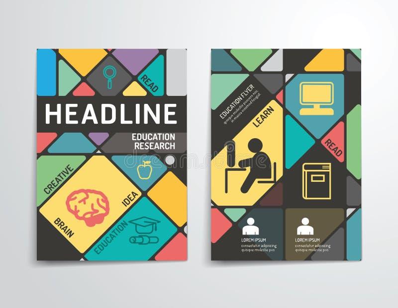 Vector Broschüre, Flieger, TitelseitenBroschürenplakatdesign lizenzfreie abbildung