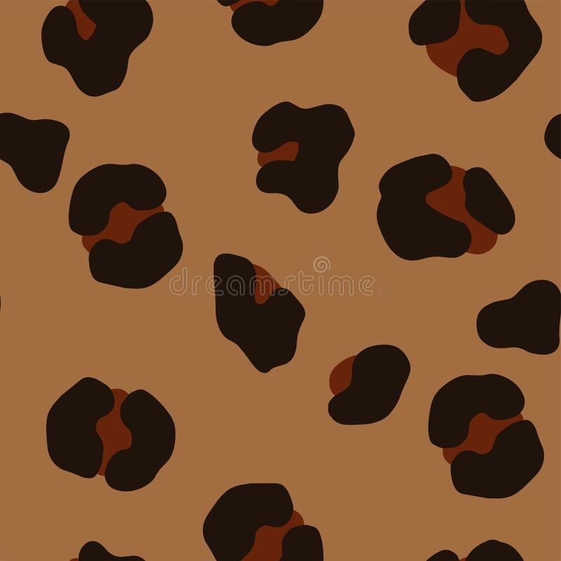 Leopard seamless pattern royalty free illustration