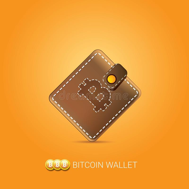 Vector brown bitcoin wallet with coins isolated on orange background download vector brown bitcoin wallet with coins isolated on orange background bitcoin business concept stock ccuart Images