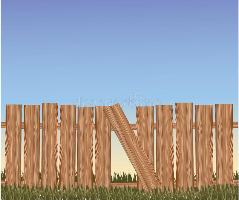 Vector brown fence royalty free illustration