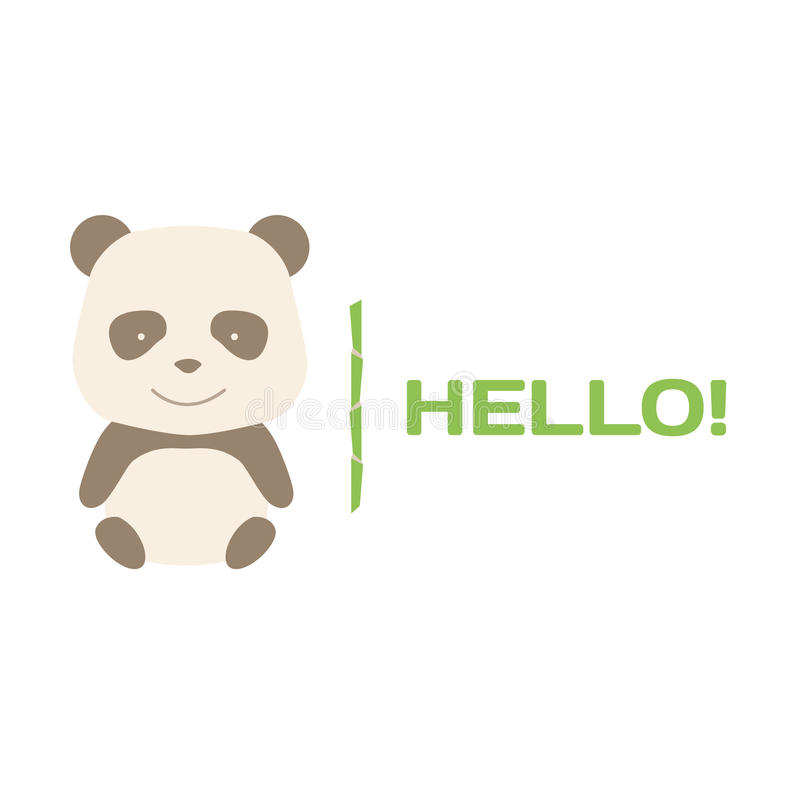 Free Vector Brown Panda Logo Stock Images - 44375524