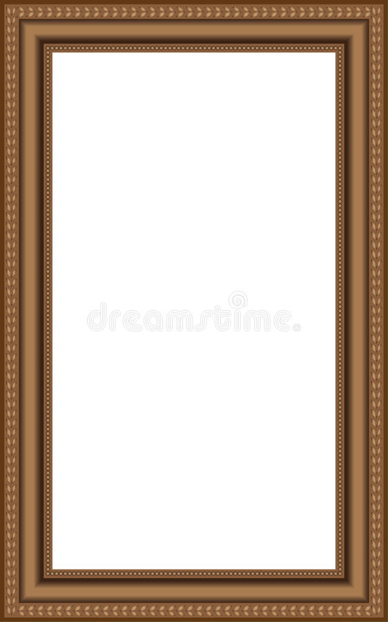 Vector brown wooden frames stock image
