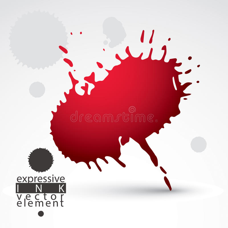 Vector brush multicolored painted ink blob, eps8 smudge background. Web and graphic design expressive element. vector illustration
