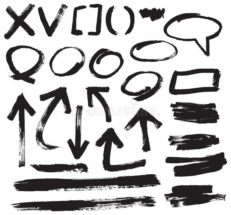 Download Brush stroke vector stock vector. Image of collection - 29763876