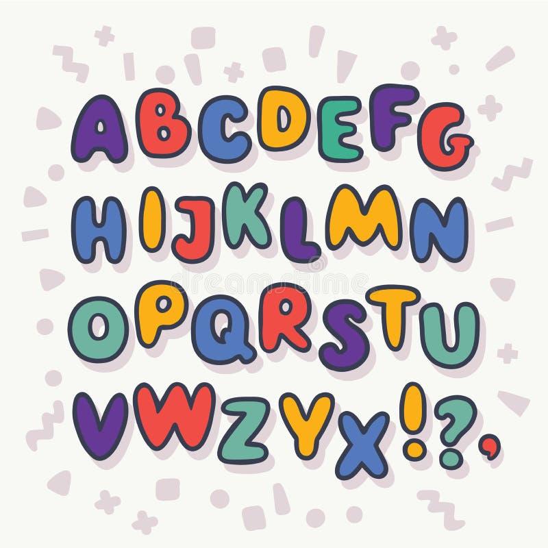 Download Vector Bubble Alphabet Letters A Z Stock