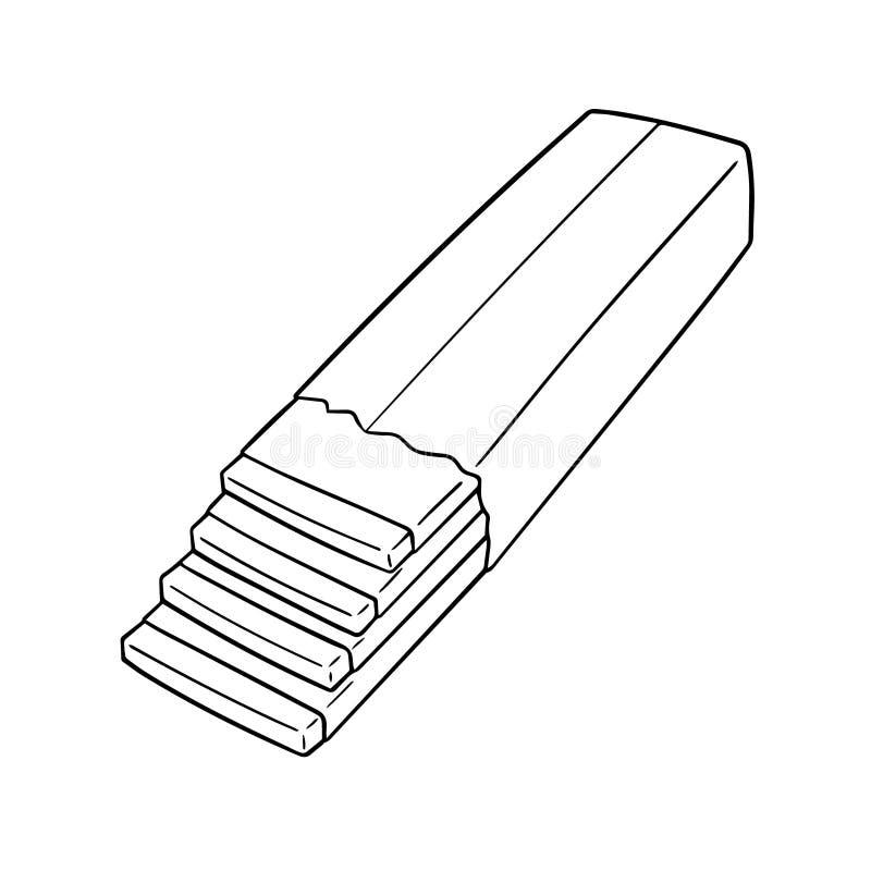 Vector of bubble gum. Hand drawn cartoon, doodle illustration stock illustration