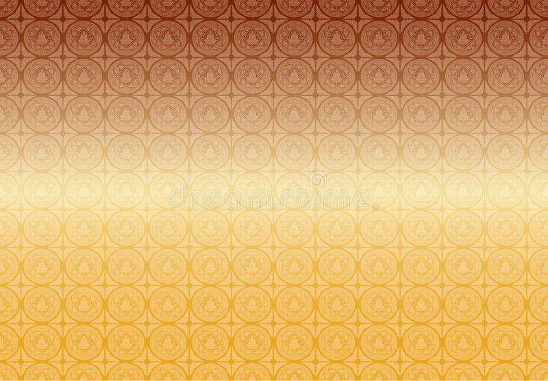 Vector Buddha patterns background vector illustration